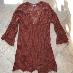 Haute Monde rust color cardigan